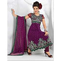 Semi-Stitched Designer Embroidered Suits