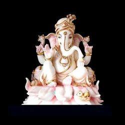 GA-4072 Lord Ganesh Marble Statue