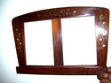 Polished Wooden Sheesham Wood Photo Frame Cum Book Holder, For Decoration, Size: 4*6 Inch