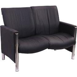 AV-248 Two Seater Black Sofa