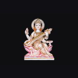 Mata Saraswati Marble Statue