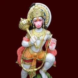 HU-0037 Lord Hanuman Marble Moorti