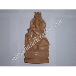 Wooden Sitting Krishna
