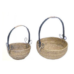 Round Deep Fruit Wicker Basket