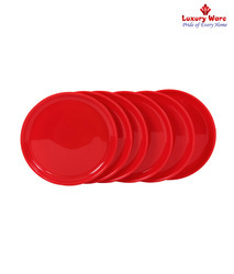 Red Full Round Plates