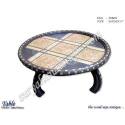 Wooden Table Round Figure