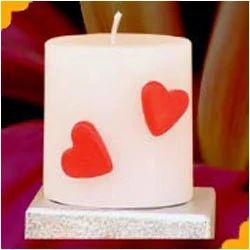 valentine pillar candles