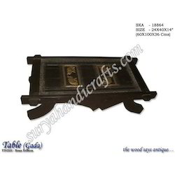 Wooden Table Brass Emboss