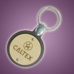 Wooden Caltex Key Chain