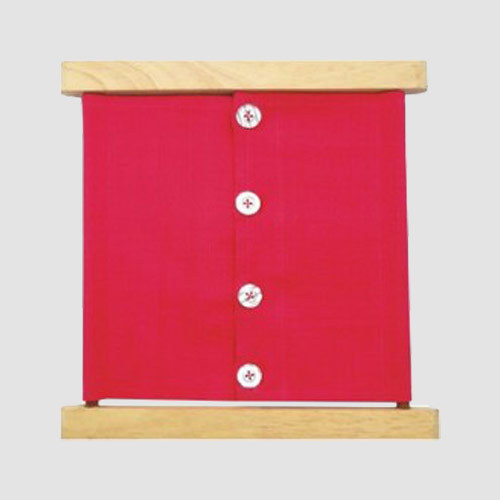 Large Button Frame, Practical Life Apparatus   Govind Colony