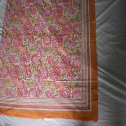 Flower Block Printed Bed Sheets