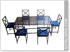 Rect. Table W/ 6 Chairs