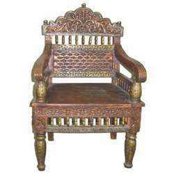 Carved Sofa Single Chair Embossed