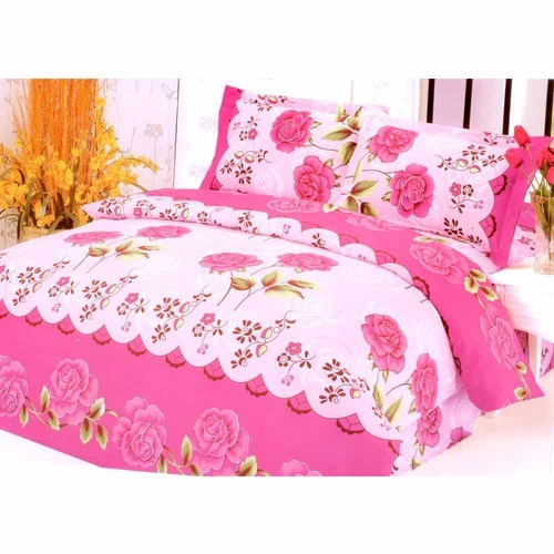 Beautiful Print Pink Bedsheet