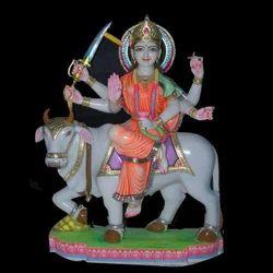 DU-0011 Marble Durga Mata Moorti