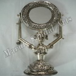 Metal Oxidised Doll With Mirror