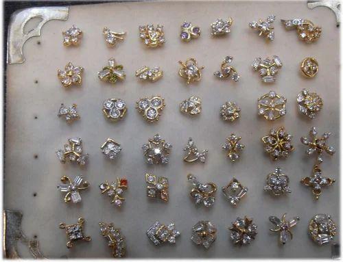 Gold Nose Pin Designer Gold Nose Pin Manufacturer From Ahmedabad