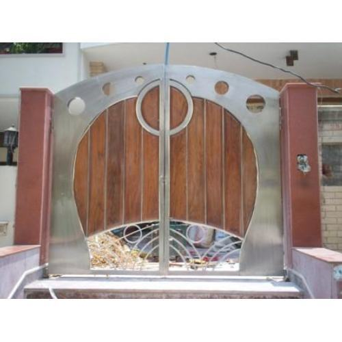 Stainless steel gates stainless steel fancy main gate for International decor main gates
